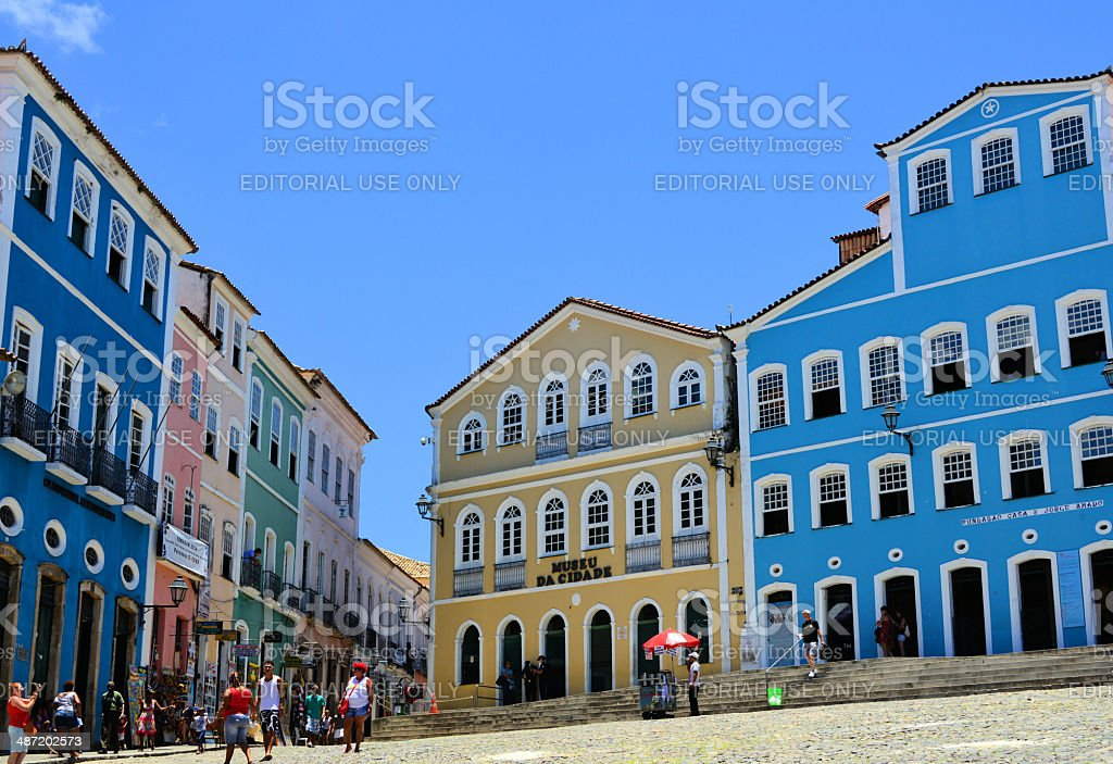 Colonial Brasil - Salvador da Bahia stock photo