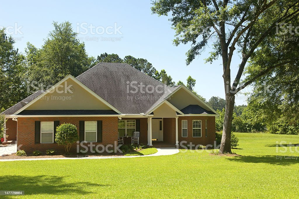 Colonial Brick House stock photo