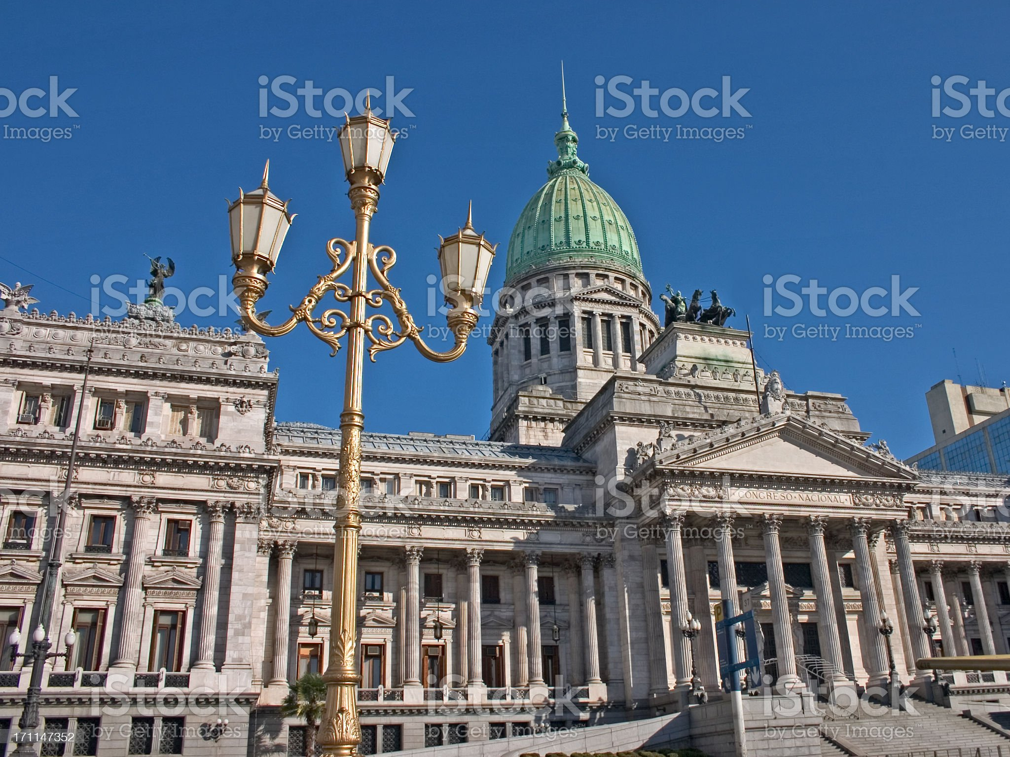 Colonial Building in Buenos Aires royalty-free stock photo