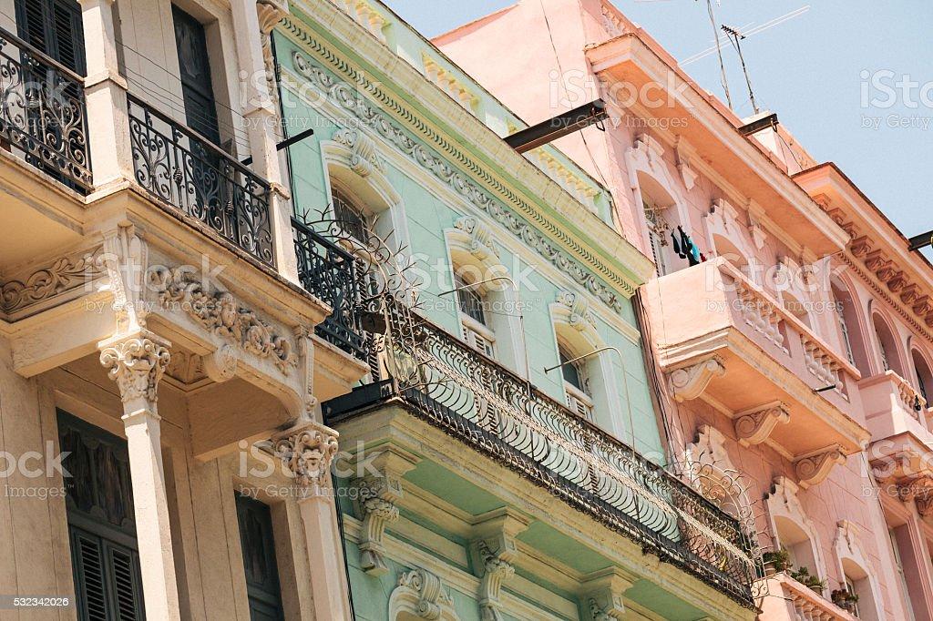 Colonial building in Havana, Cuba stock photo