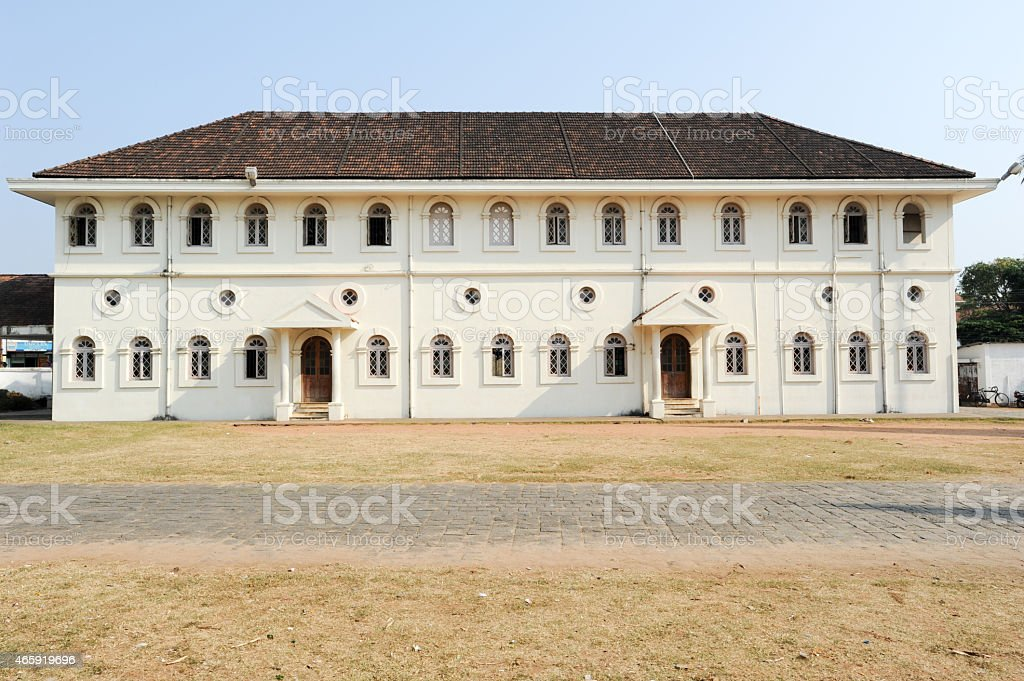 Colonial building of Fort Cochin stock photo