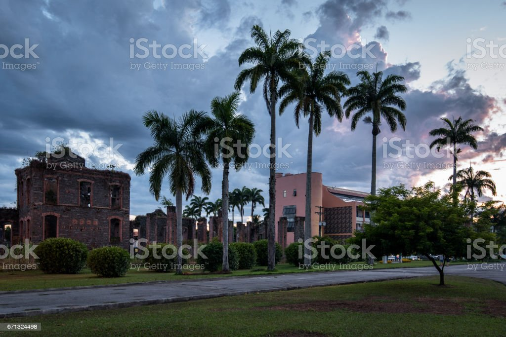 Colonial Building Ruins in Brazil stock photo