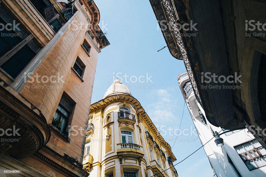 Colonial buildings in Havana, Cuba stock photo
