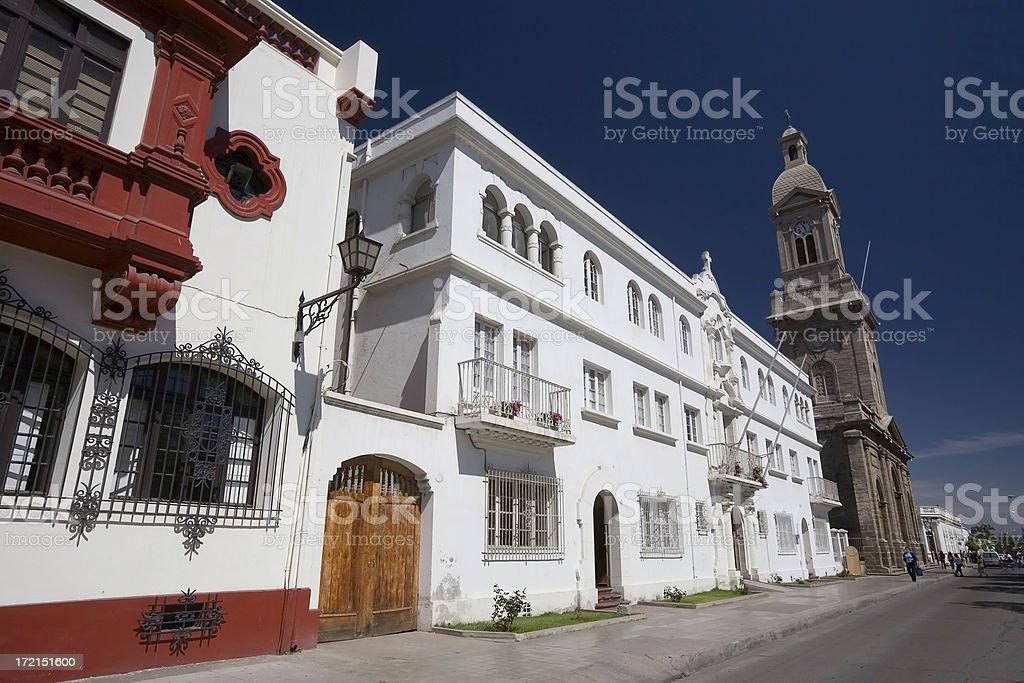 Colonial Buildings. La Serena, Chile. stock photo