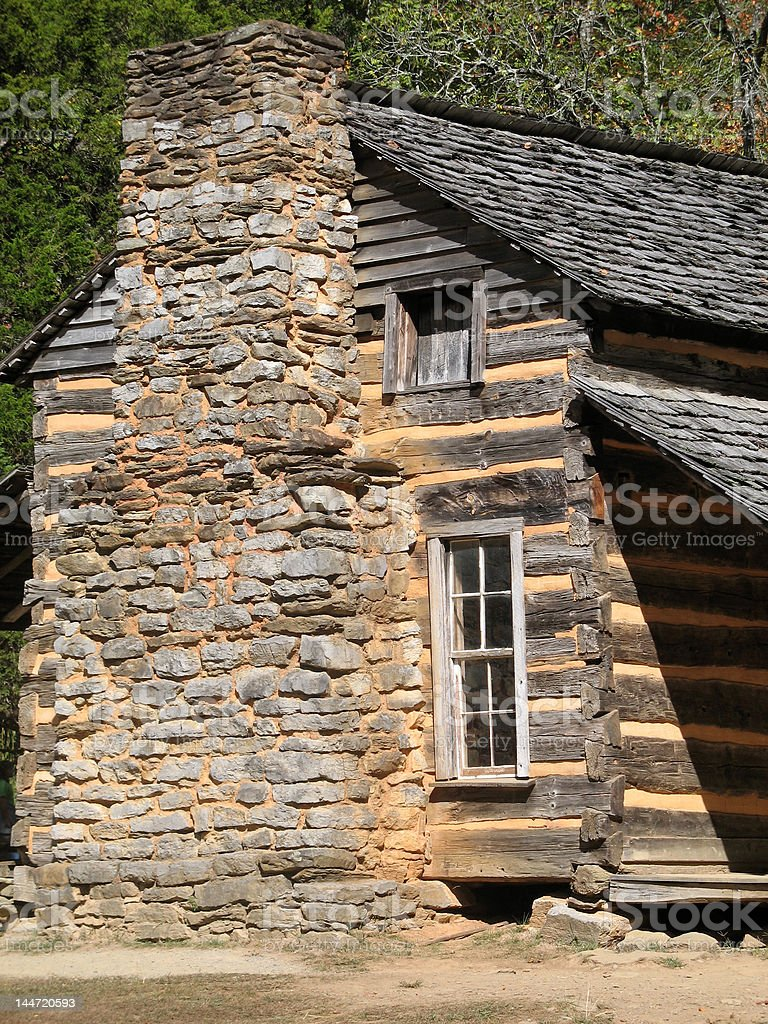 Colonial Cabin - Smoky Mountains royalty-free stock photo