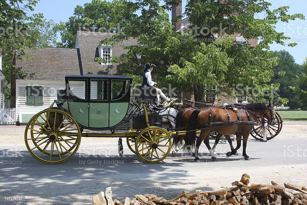 Colonial carriage royalty-free stock photo