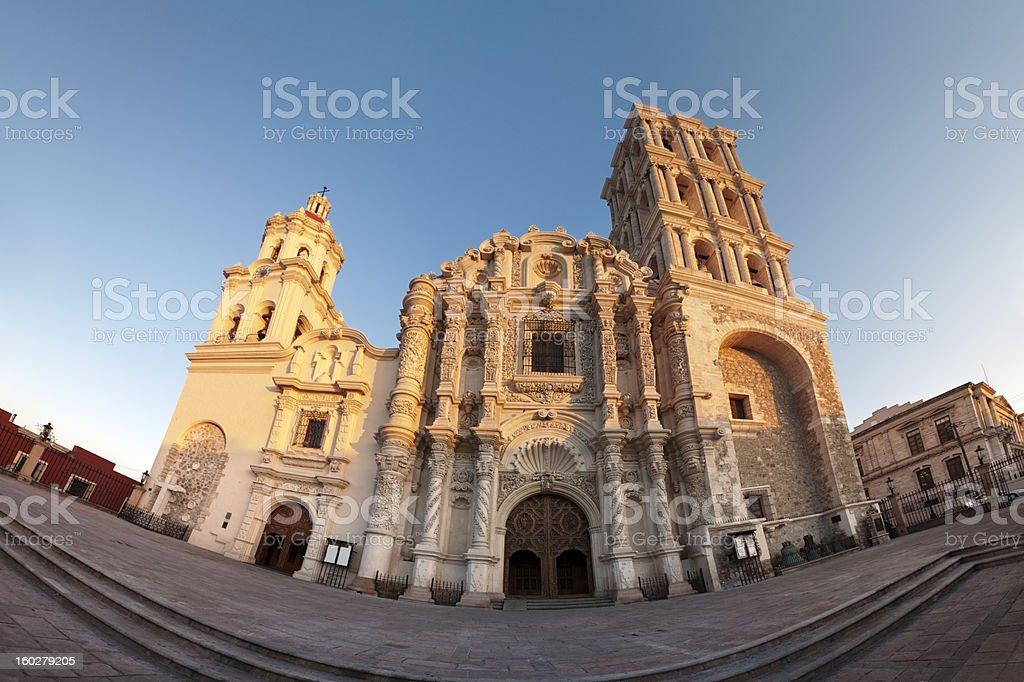 Colonial Cathedral, Saltillo, Mexico stock photo