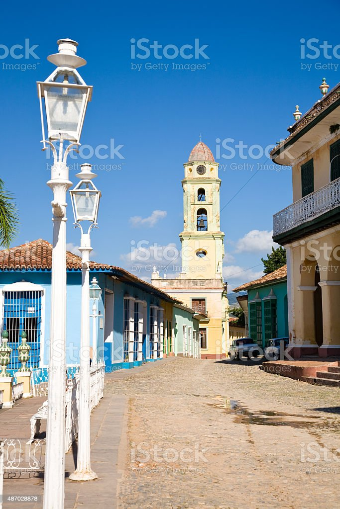 Colonial center, Trinidad stock photo