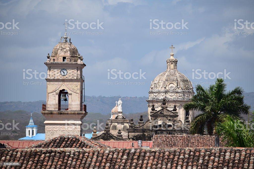 Colonial Church. Granada, Nicaragua stock photo