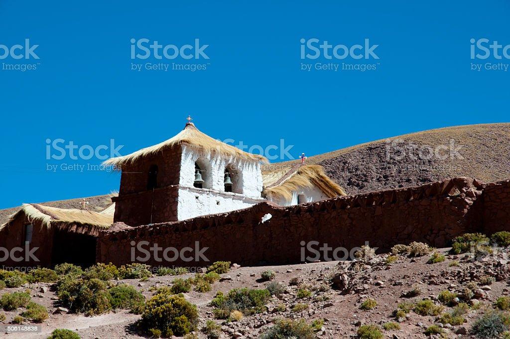 Colonial Church - Machuca - Chile stock photo