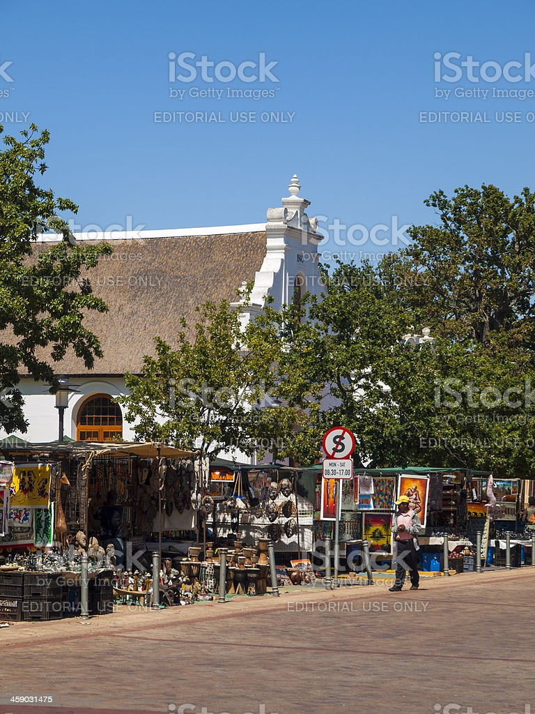 Colonial Church, Stellenbosch South Africa royalty-free stock photo