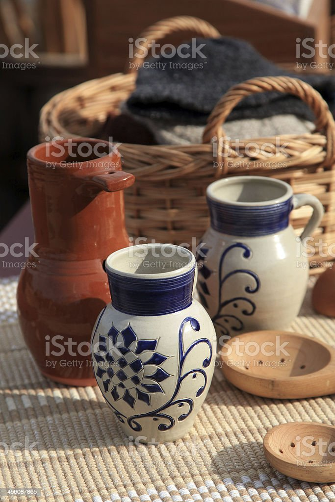 Colonial Dishware royalty-free stock photo