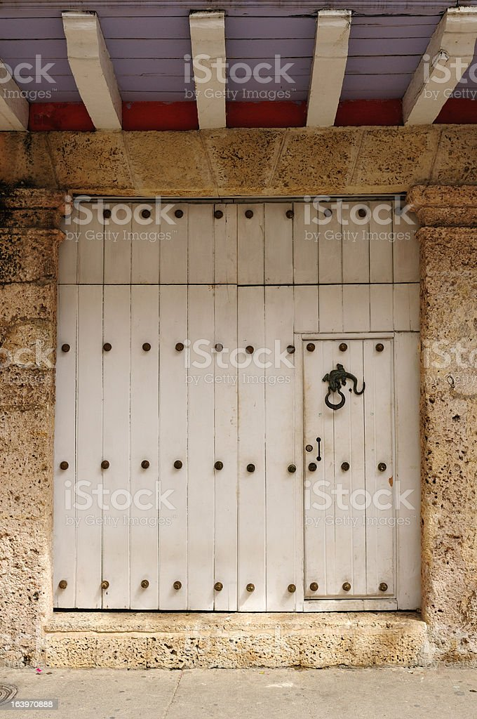 Colonial door royalty-free stock photo