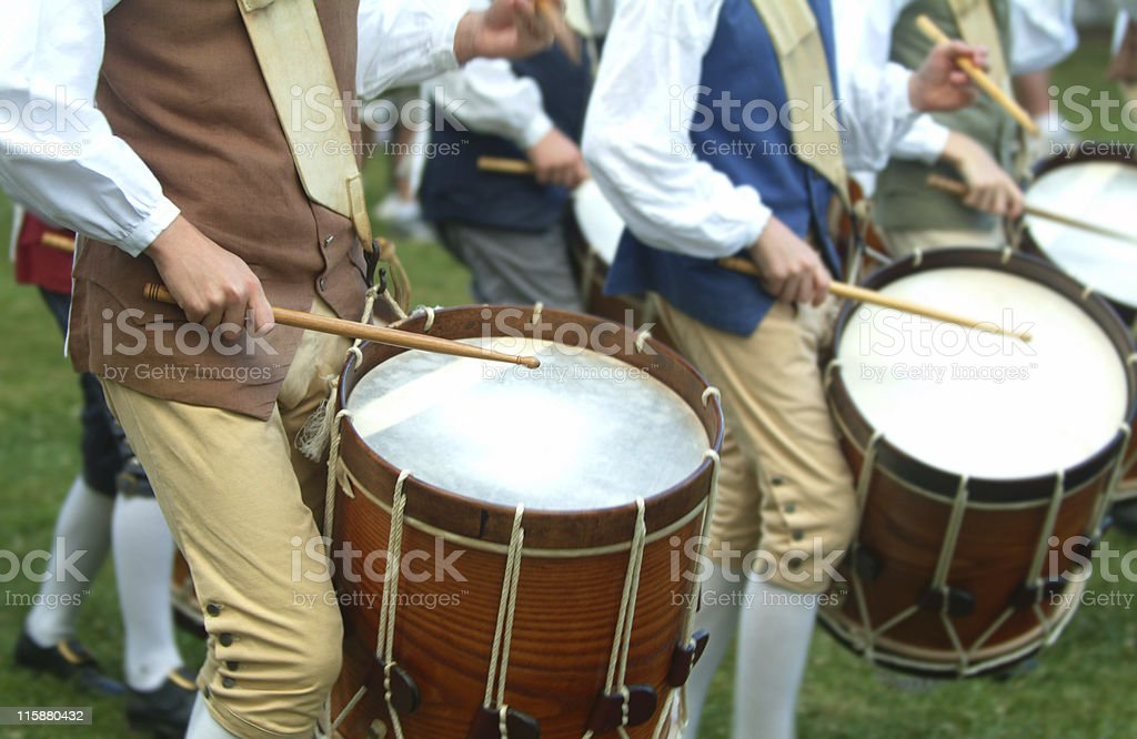 Colonial Drum Corp royalty-free stock photo