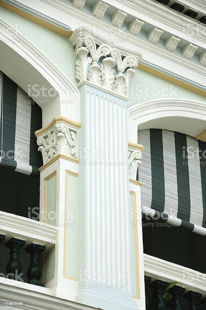 Colonial era pillar royalty-free stock photo