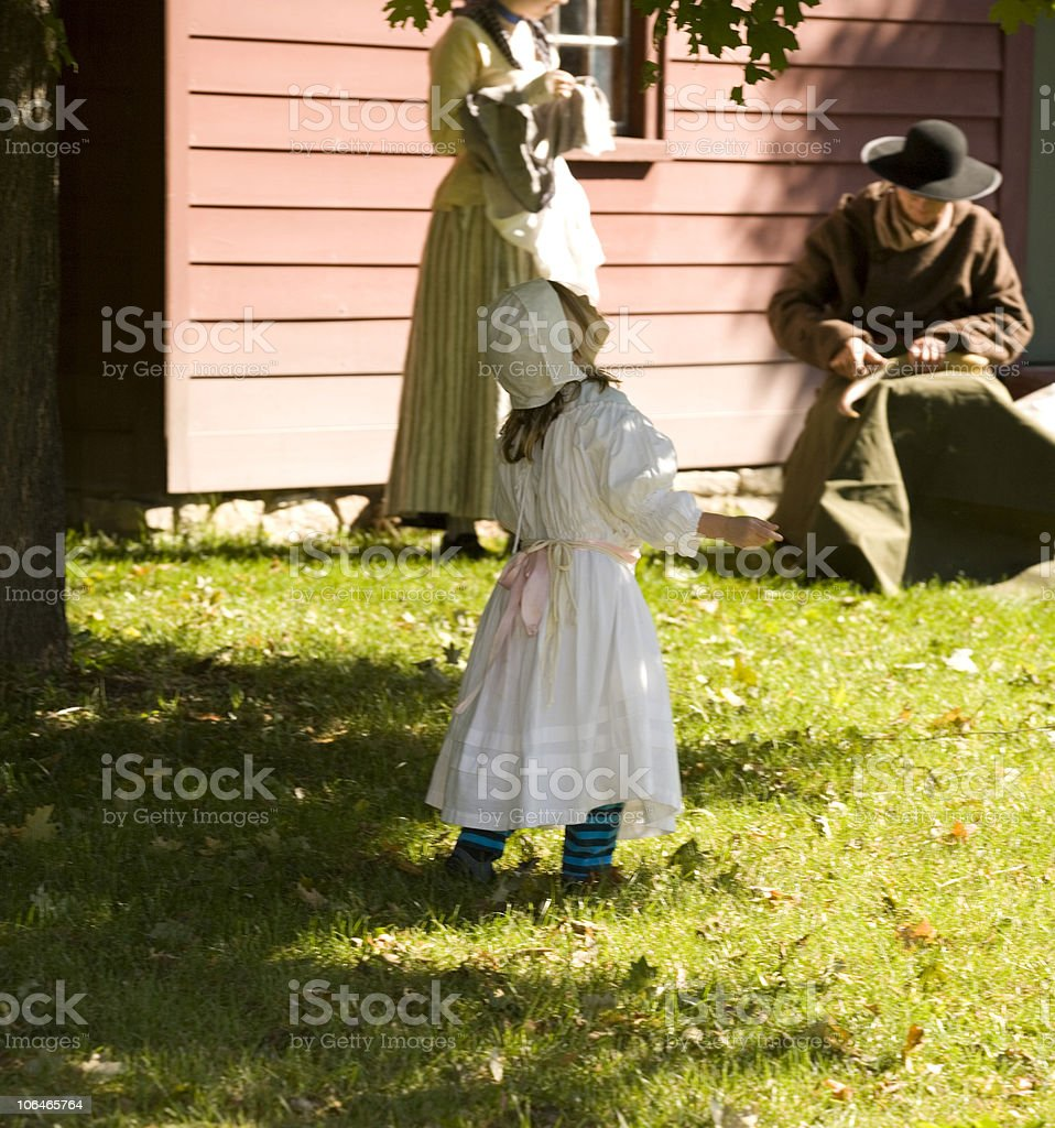 Colonial Family royalty-free stock photo
