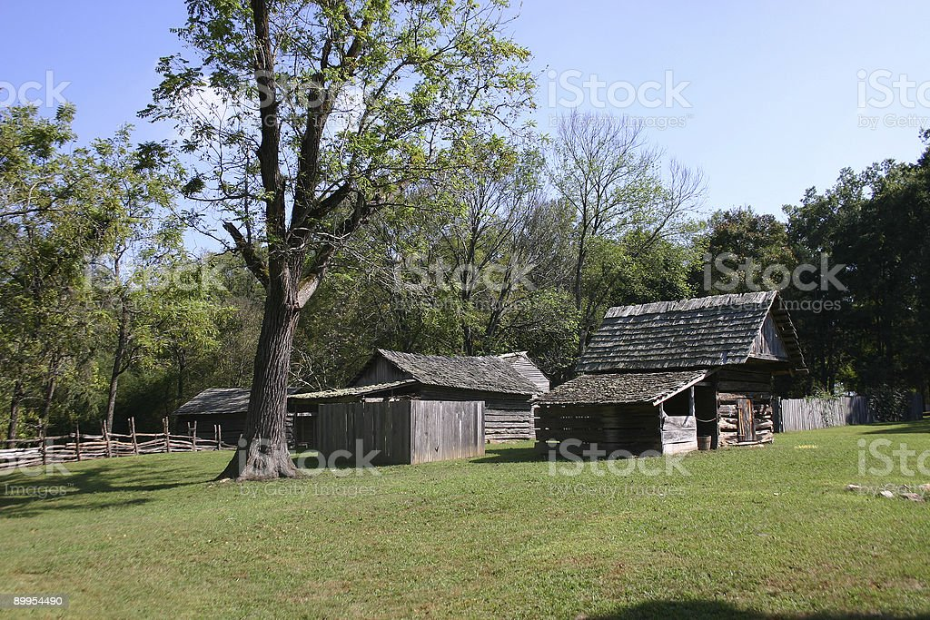 Colonial Farm House royalty-free stock photo