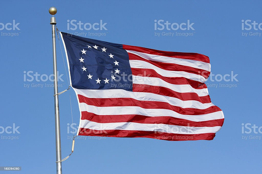 Colonial Flag - horizontal royalty-free stock photo
