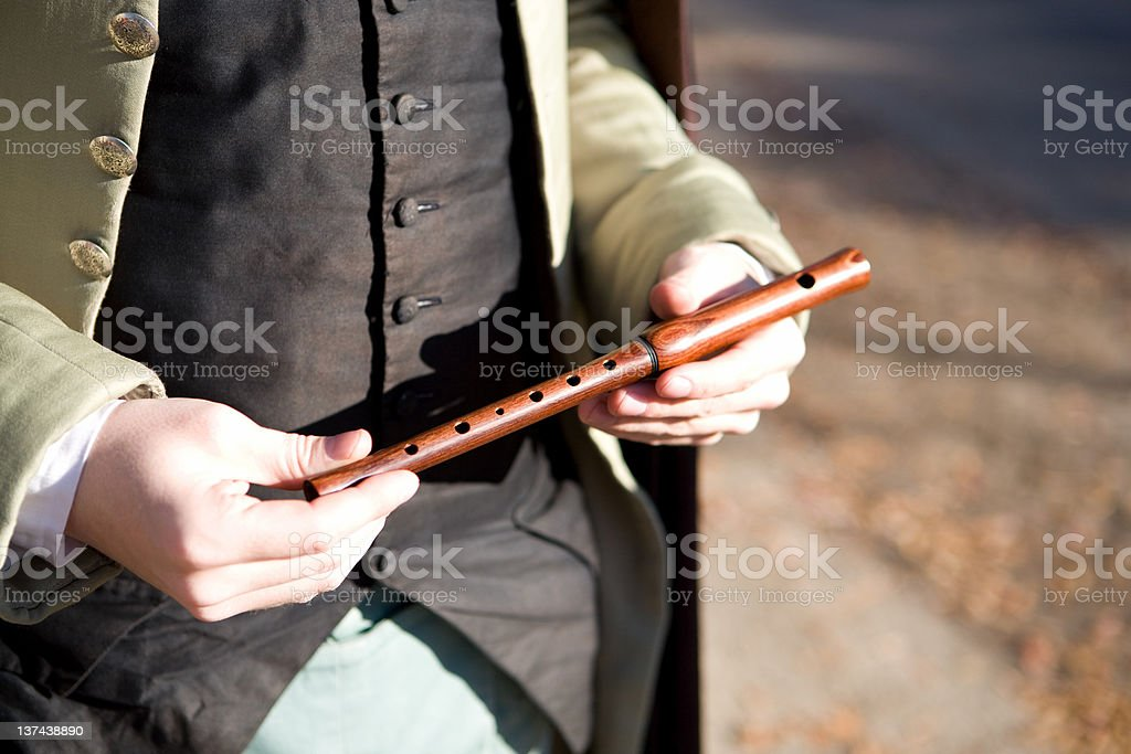 colonial flute in Williamsburg, Virginia royalty-free stock photo