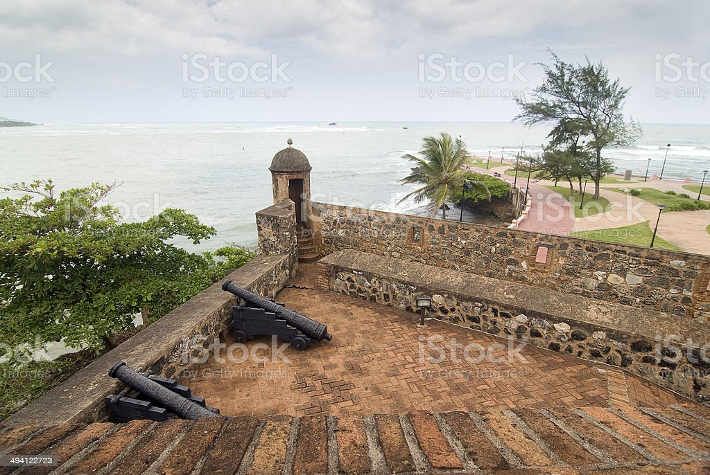 Colonial Fortress stock photo