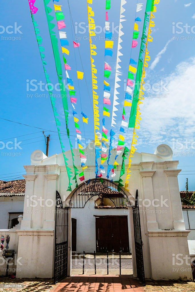 Colonial Gate in Latin America stock photo