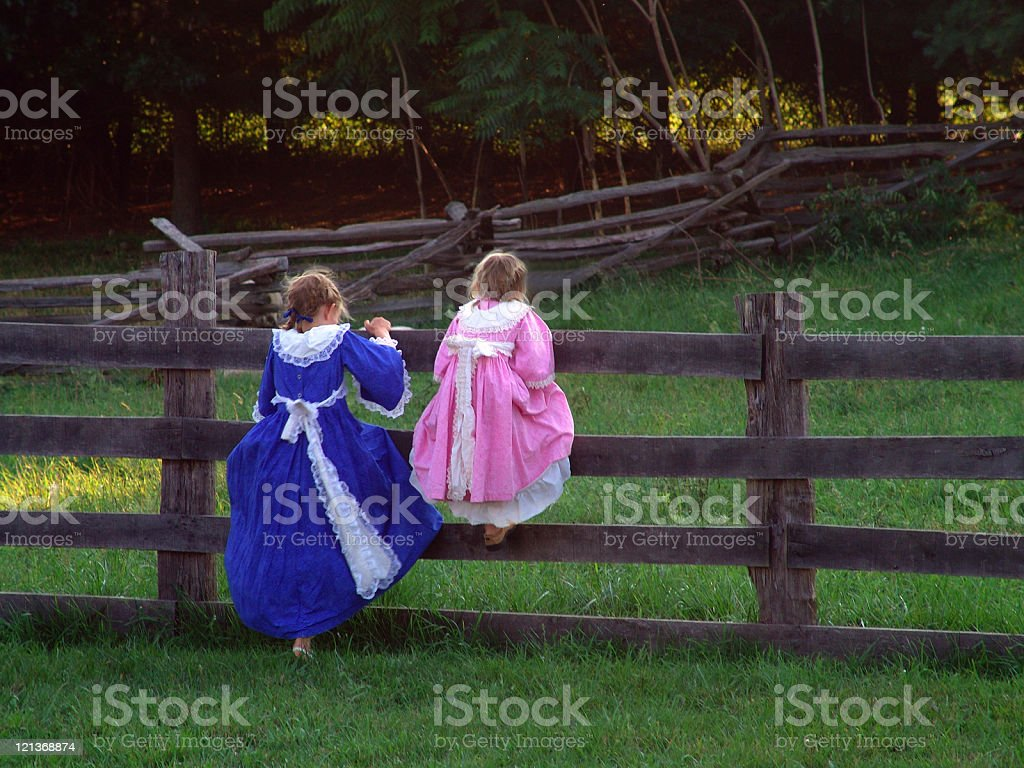 Colonial Girls royalty-free stock photo