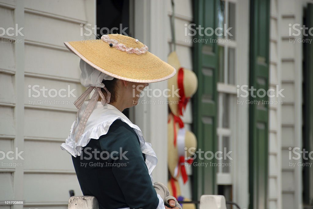 Colonial Hat Shop royalty-free stock photo