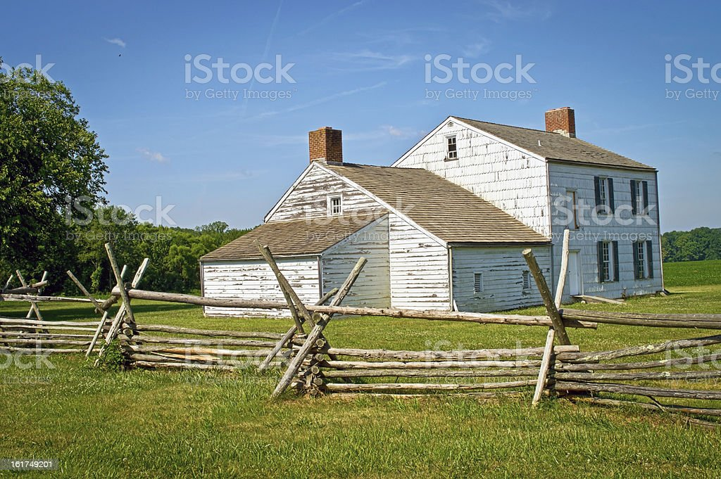 Colonial Home Monmouth Battlefield royalty-free stock photo