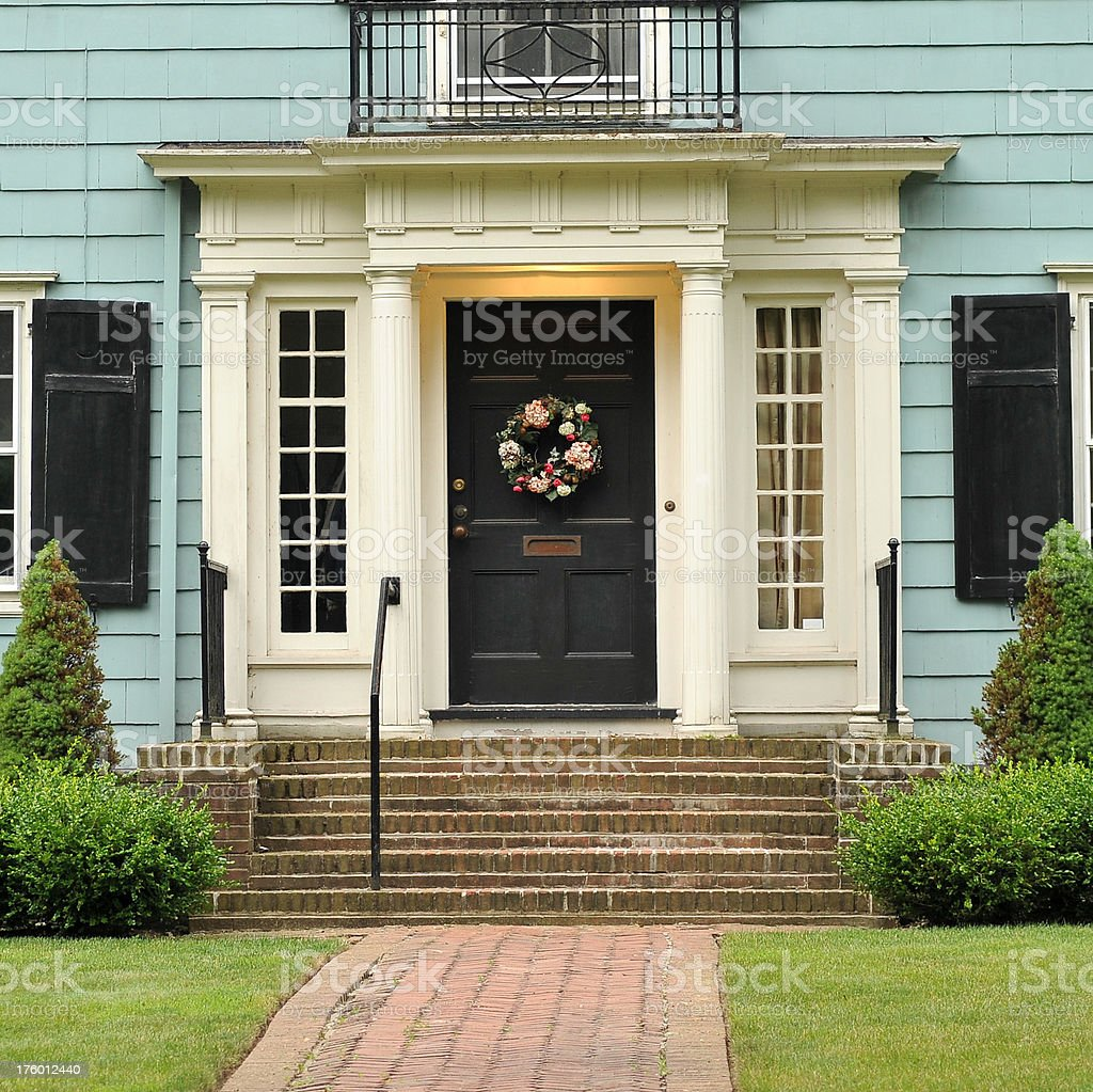 Colonial Home royalty-free stock photo
