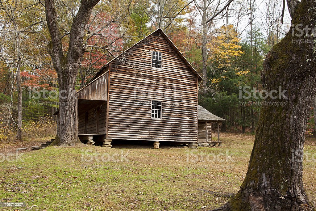 Colonial homestead stock photo