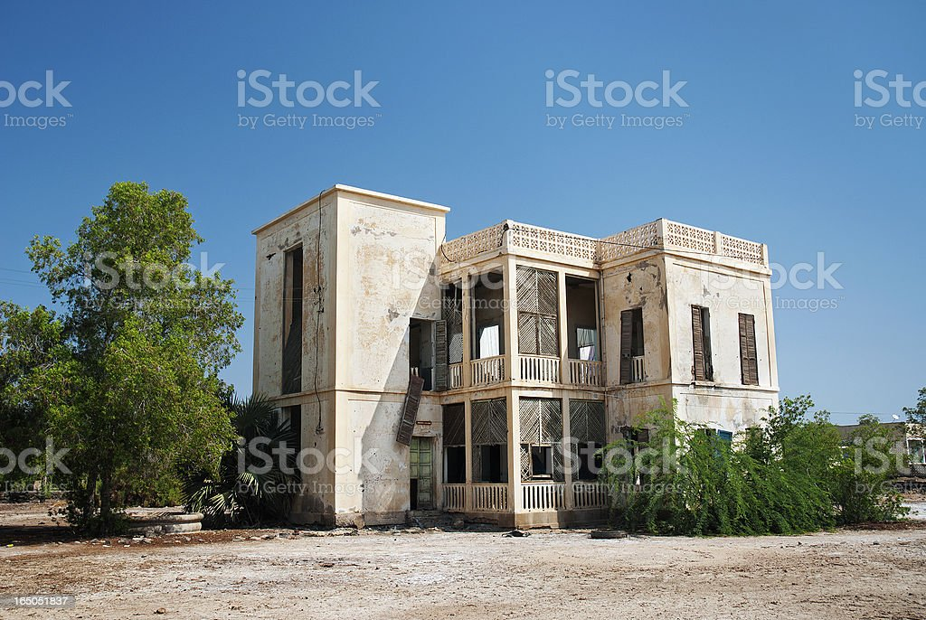 colonial house in massawa eritrea stock photo