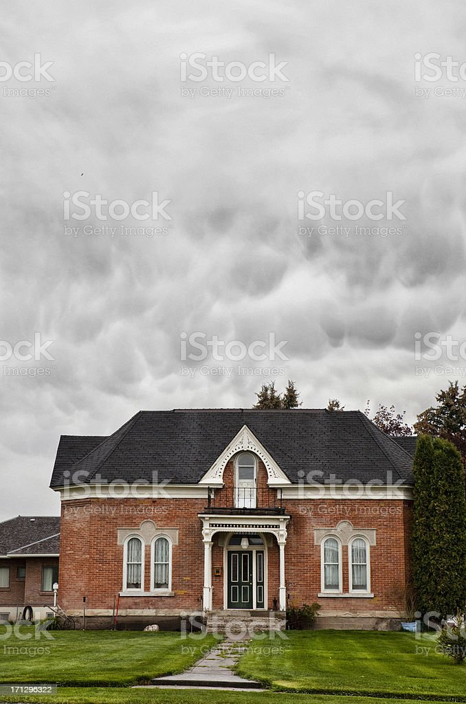 Colonial House stock photo