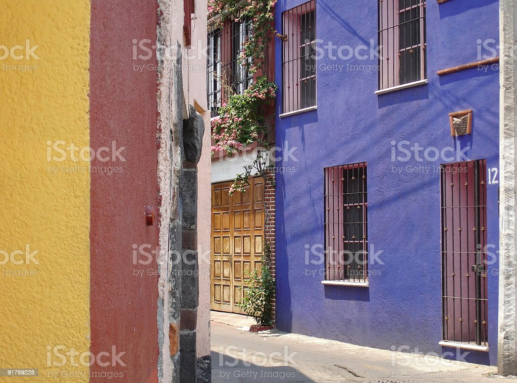Colonial houses royalty-free stock photo