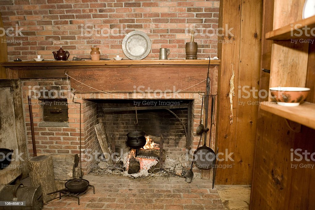 Colonial Kitchen royalty-free stock photo