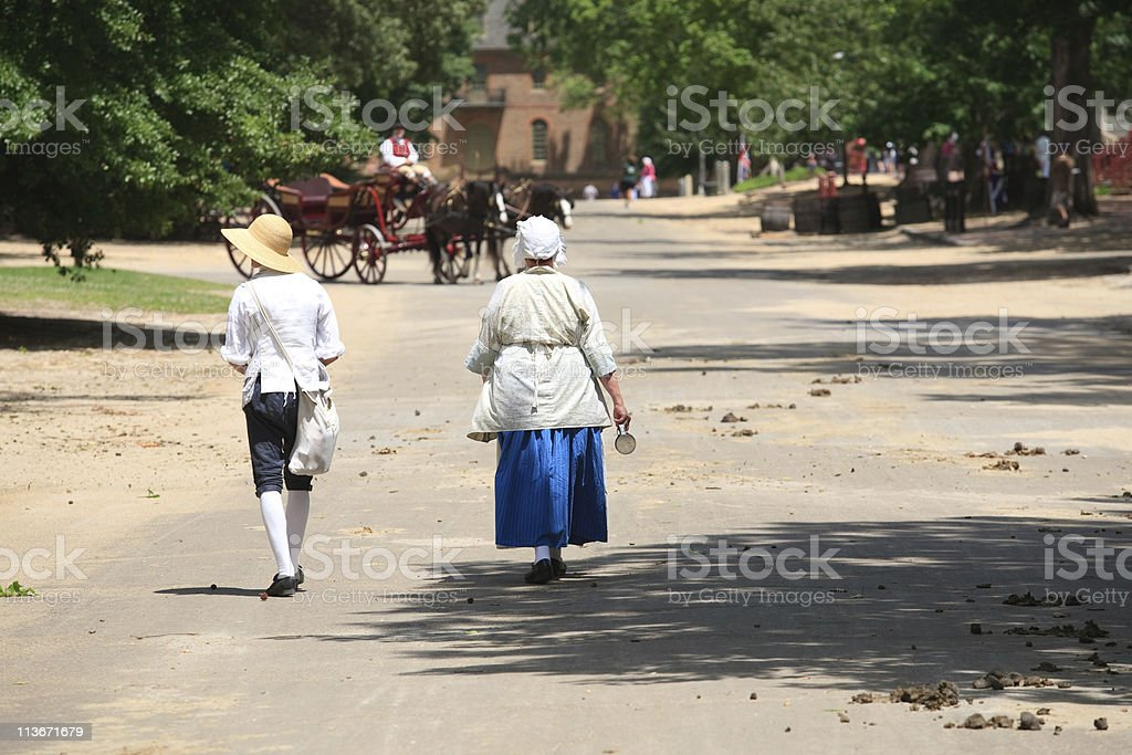 colonial life in Williamsburg, Va royalty-free stock photo