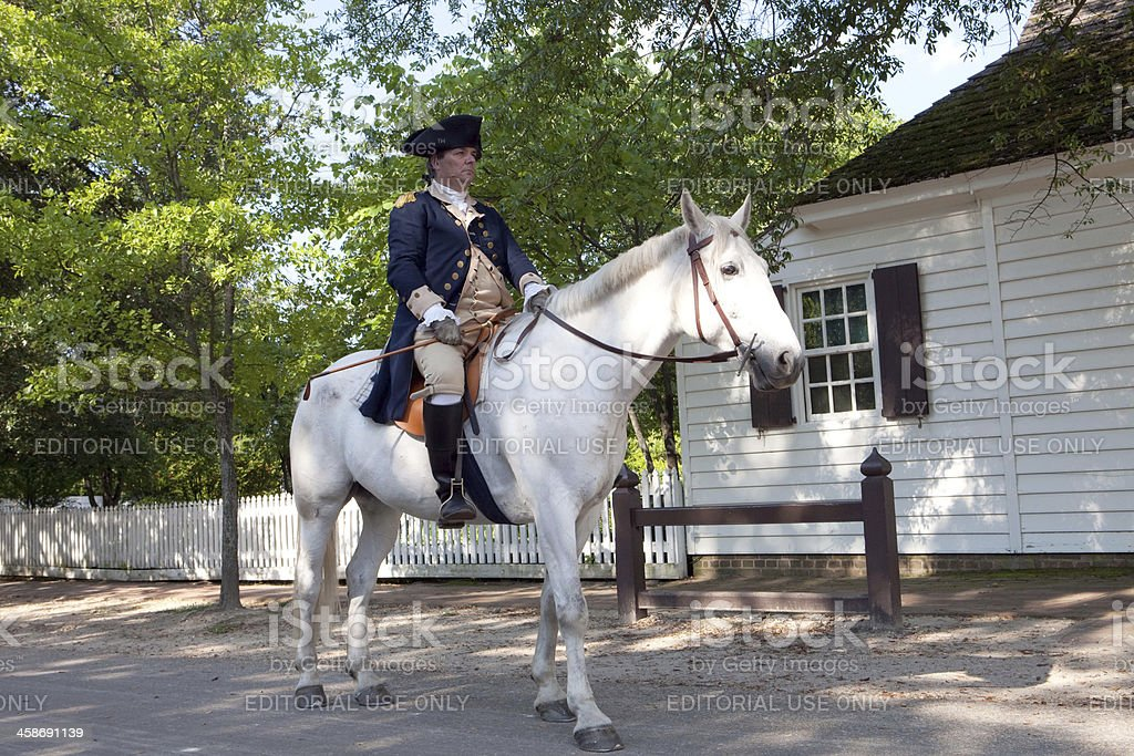 Colonial Life in Williamsburg, Va stock photo