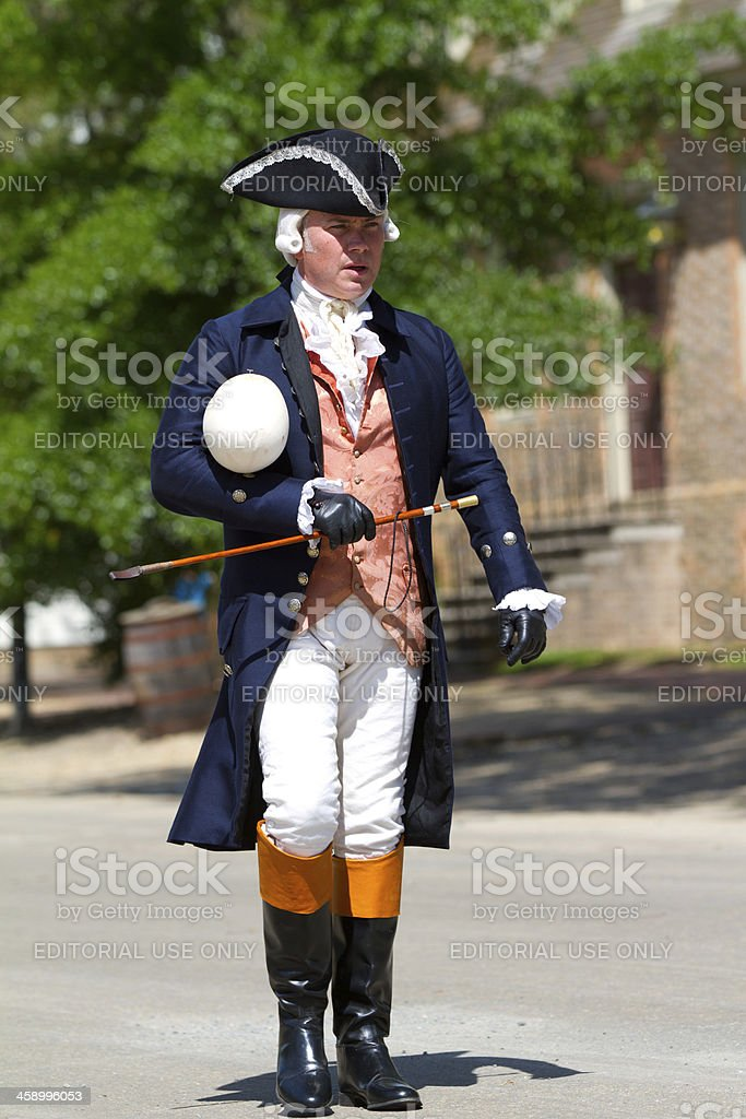 Colonial life in Williamsburg, Va stock photo