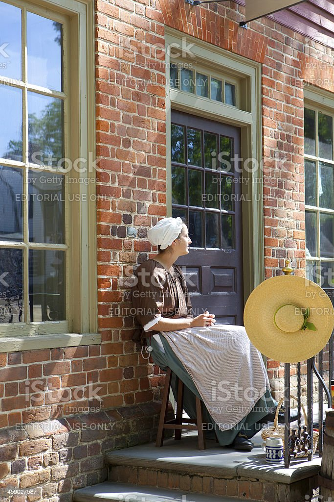 Colonial life in Williamsburg, Va royalty-free stock photo