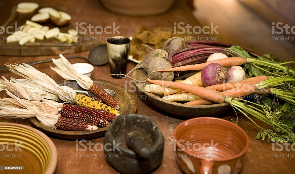 Colonial Meal royalty-free stock photo