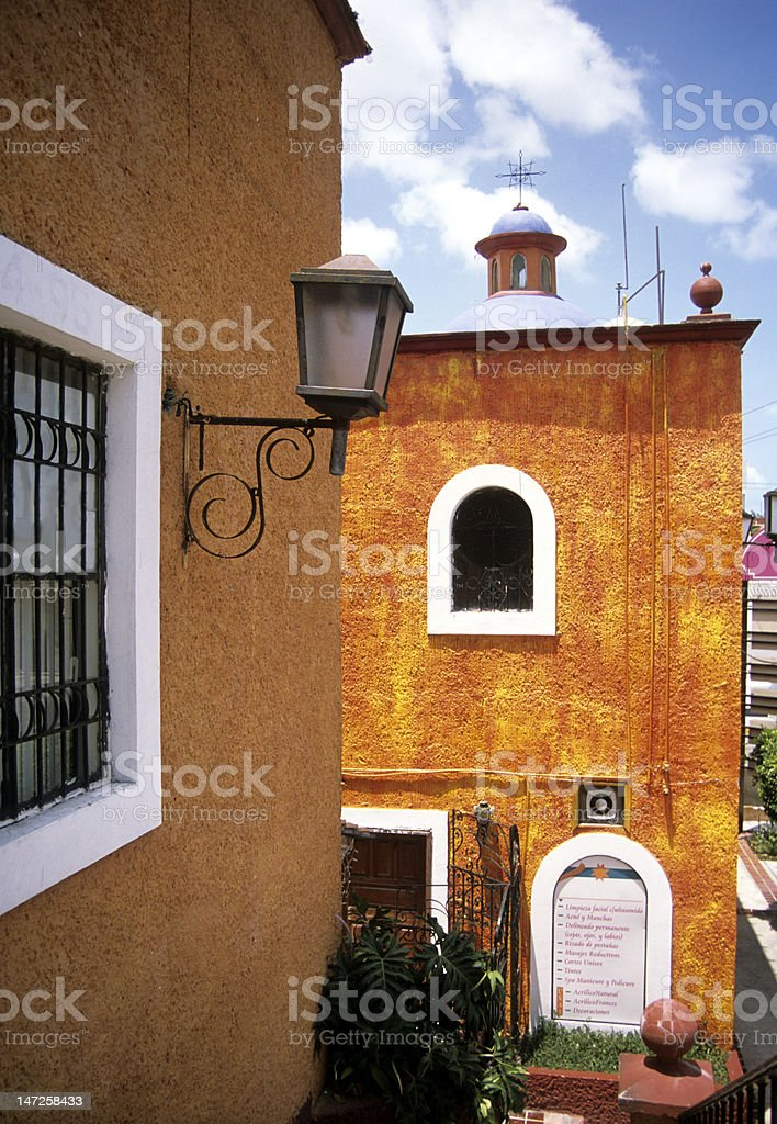 Colonial Mexican Stucco Buildings royalty-free stock photo