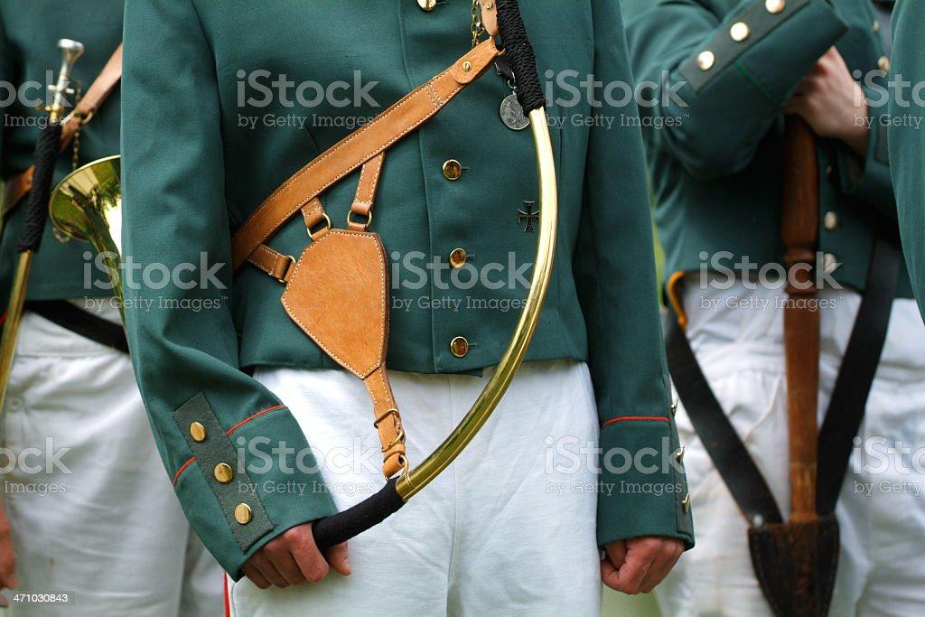 Colonial Militiamen royalty-free stock photo