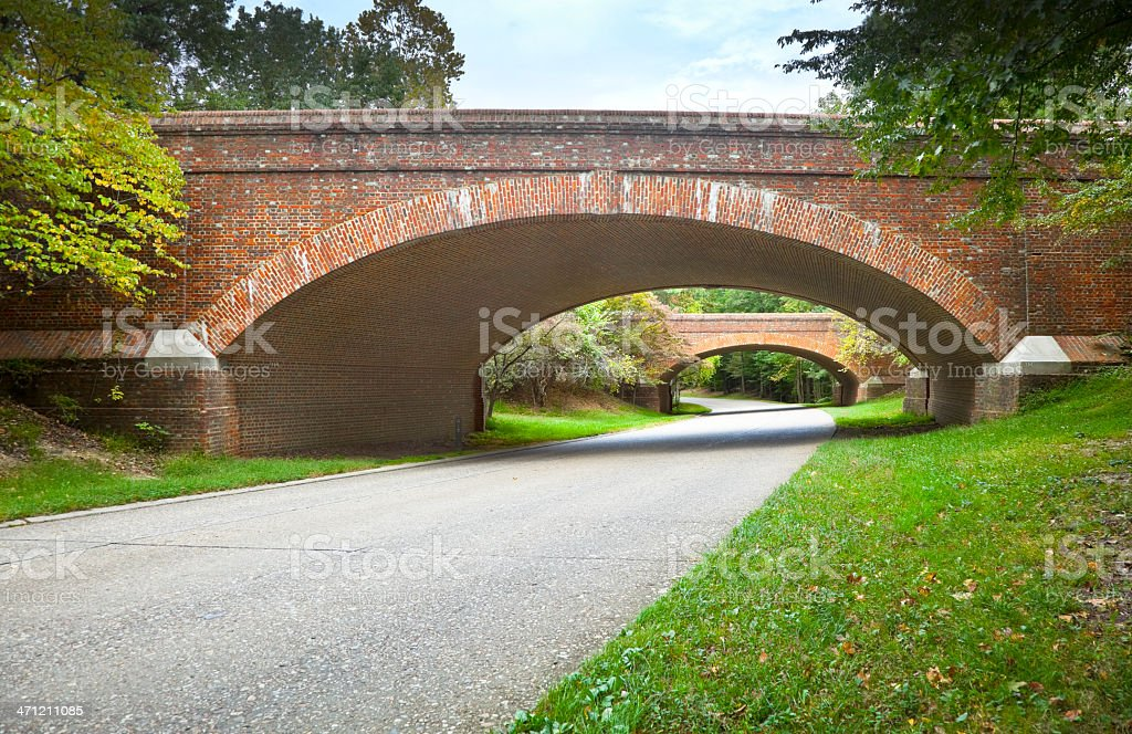 Colonial Parkway stock photo