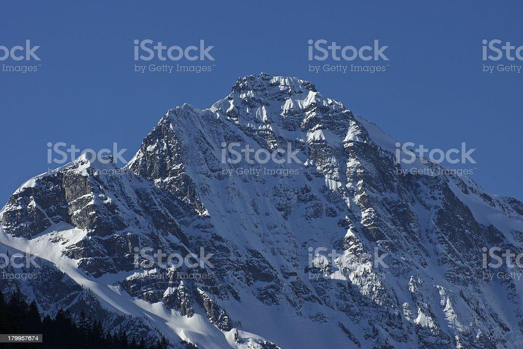 Colonial Peak Ice Wall stock photo