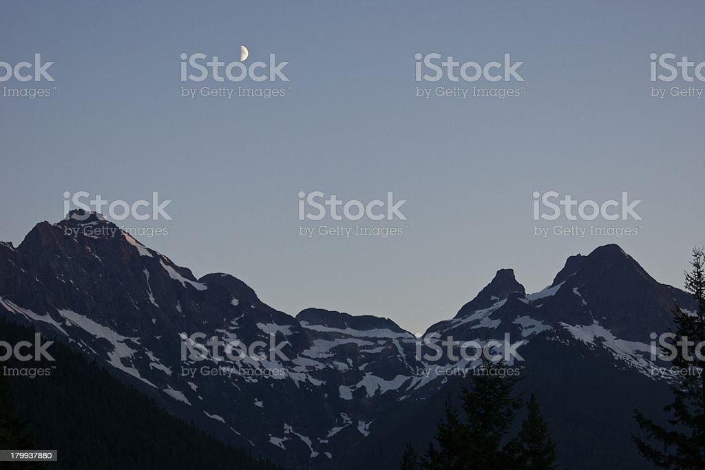 Colonial Peak Moon royalty-free stock photo