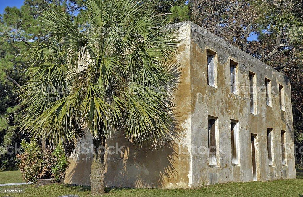 Colonial Plantation House Jekyll Island Georgia stock photo