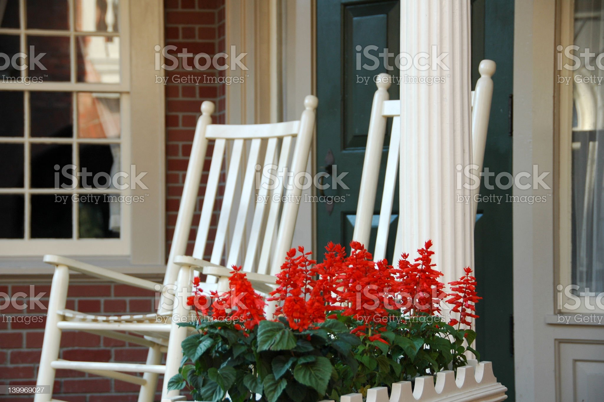 Colonial Porch royalty-free stock photo