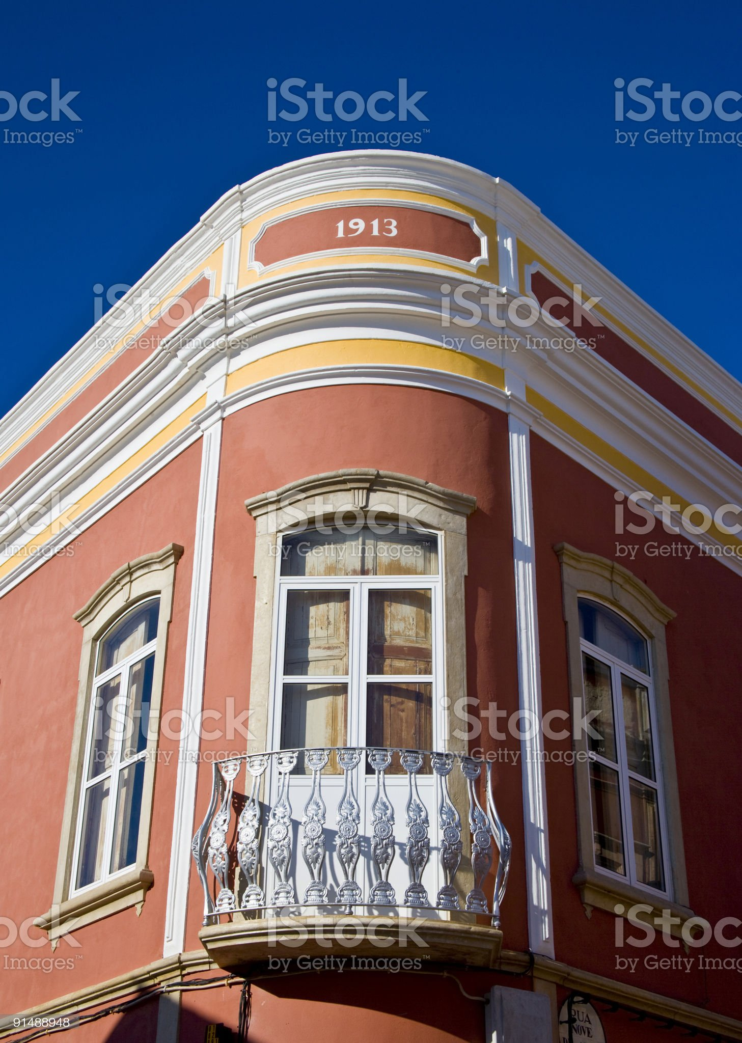 Colonial Portuguese architecture royalty-free stock photo