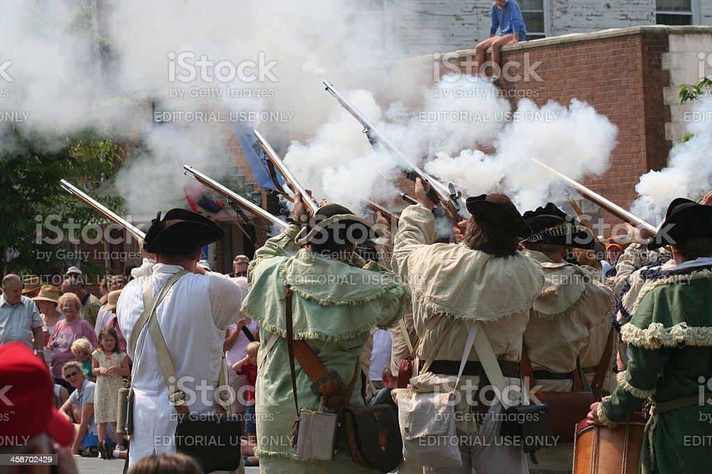 Colonial Reenactment stock photo