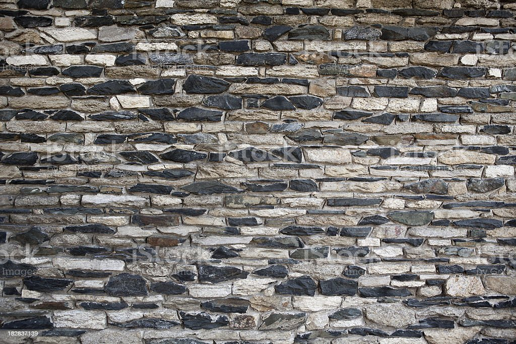Colonial Rock textured  wall. royalty-free stock photo