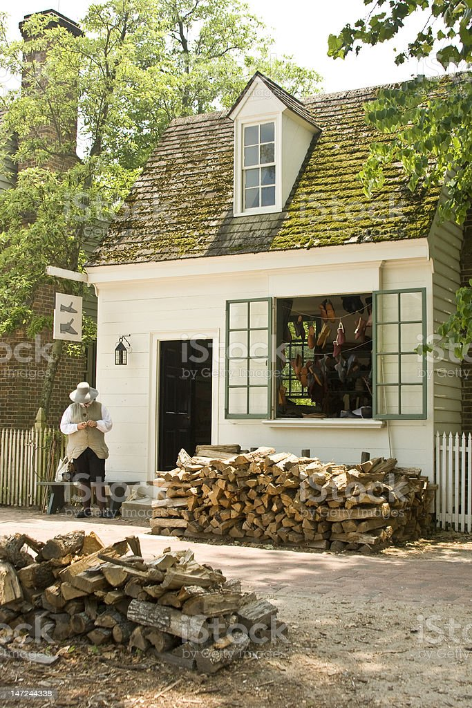 Colonial shoeshop royalty-free stock photo